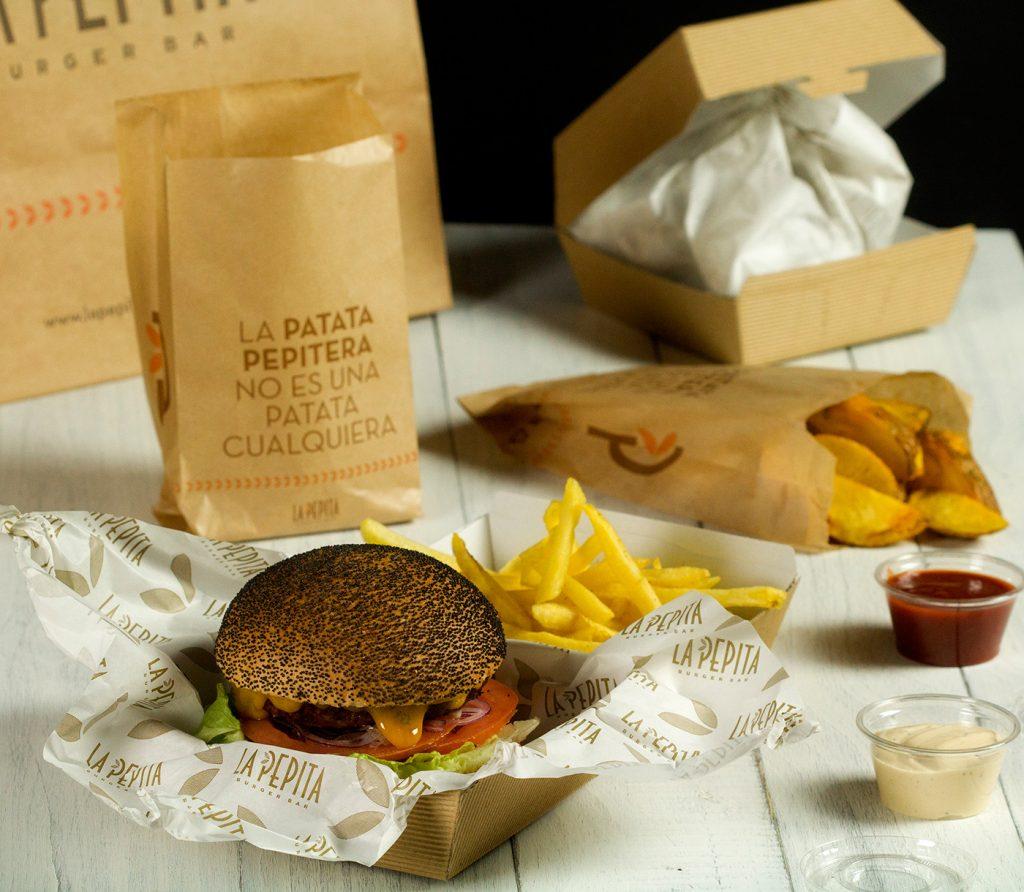 Take away tu hamburguesa gourmet para llevar la pepita for La pepita burger salamanca