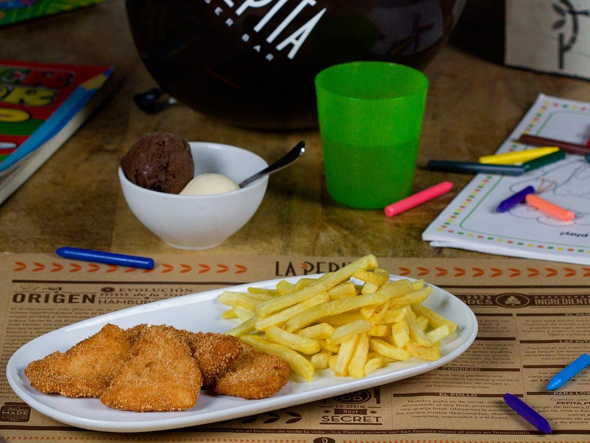Menú infantil | La Pepita Burger Bar